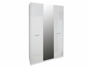 Шкаф 3д «Белла» с зеркалом | Глянец белый