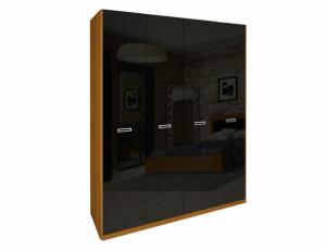 Шкаф 4д «Белла» без зеркала | Глянец черный
