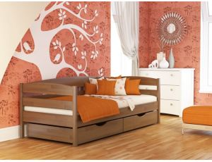 Дерев'яне односпальне ліжко Нота Плюс 90х200 см Естелла