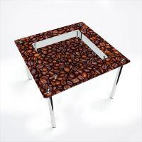 Стол обеденный Квадратный с полкой Coffee aroma