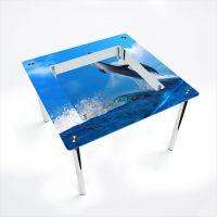 Стол обеденный Квадратный с полкой Dolphin