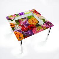 Стол обеденный Квадратный с полкой Flowers
