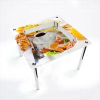 Стол обеденный Квадратный с полкой Nice breakfast