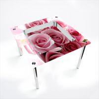 Стол обеденный Квадратный с полкой  Pink Roses