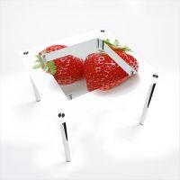 Стол обеденный Квадратный с полкой  Red berry