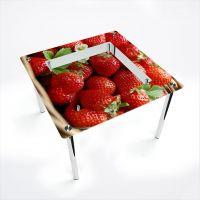 Стол обеденный Квадратный с полкой Strawberry