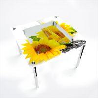 Стол обеденный Квадратный с полкой Sunflower