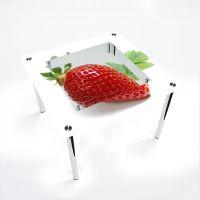 Стол обеденный Квадратный с полкой Sweet berry
