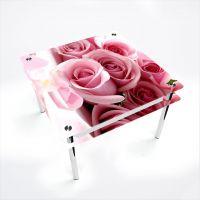 Стол обеденный Квадратный с проходящей полкой Pink Roses
