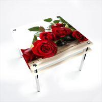 Стол обеденный Квадратный с проходящей полкой  Red Roses