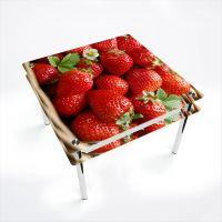 Стол обеденный Квадратный с проходящей полкой Strawberry
