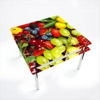 Стол обеденный Квадратный с проходящей полкой Wood berry