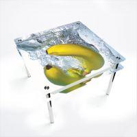 Стол обеденный Квадратный с проходящей полкой Banana