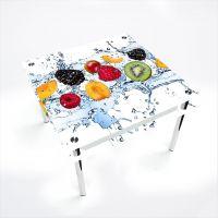 Стол обеденный Квадратный с проходящей полкой Berry Mix