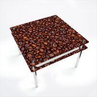 Стол обеденный Квадратный с проходящей полкой Coffee aroma