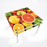 Стол обеденный Квадратный с проходящей полкой Fruit