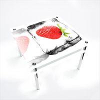 Стол обеденный Квадратный с проходящей полкой Ice berry