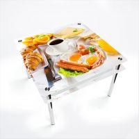 Стол обеденный Квадратный с проходящей полкой Nice breakfast