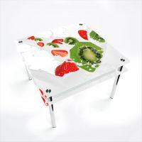 Стол обеденный Квадратный с проходящей полкой Fruit&Milk