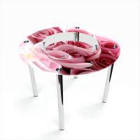 Стол обеденный Круглый с полкой Pink Roses