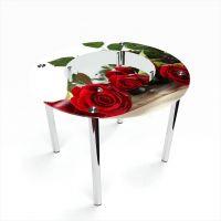 Стол обеденный Круглый с полкой Red Roses