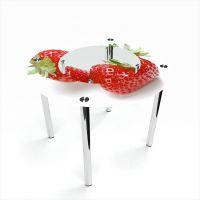 Стол обеденный Круглый с полкой Red berry