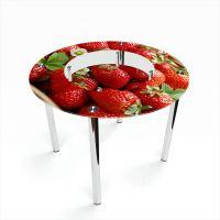 Стол обеденный Круглый с полкой Strawberry