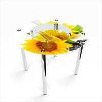 Стол обеденный Круглый с полкой Sunflower