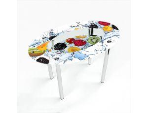 Стол обеденный Овальный с полкой Berry Mix