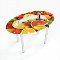 Стол обеденный Овальный с полкой Fruit