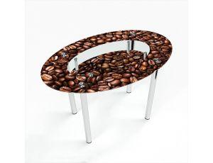 Стол обеденный Овальный с полкой  Morning aroma