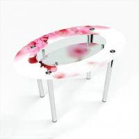 Стол обеденный Овальный с полкой Sakura