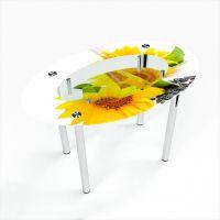 Стол обеденный Овальный с полкой Sunflower