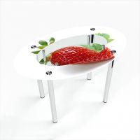 Стол обеденный Овальный с полкой  Sweet berry