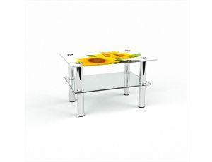 Стол журнальный Прямоугольный с полкой Sunflower