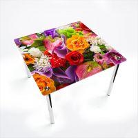Стол обеденный Квадратный  Flowers