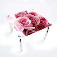 Стол обеденный Квадратный  Pink Roses