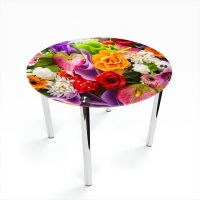 Стол обеденный Круглый Flowers