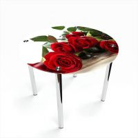 Стол обеденный Круглый Red Roses