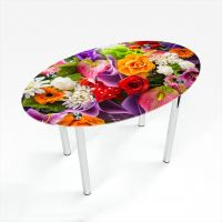 Стол обеденный Овальный Flowers