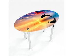 Стол обеденный Овальный Ocean