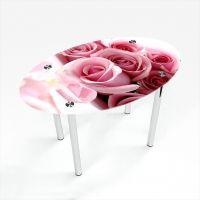 Стол обеденный Овальный Pink Roses