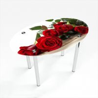 Стол обеденный Овальный Red Roses