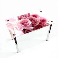 Стол обеденный Прямоугольный Pink Roses