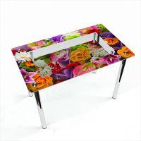 Стол обеденный Прямоугольный с полкой Flowers