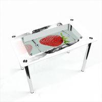 Стол обеденный Прямоугольный с полкой Ice berry