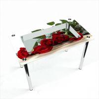Стол обеденный Прямоугольный с полкой Red Roses
