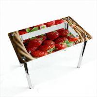 Стол обеденный Прямоугольный с полкой Strawberry
