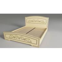 Двуспальная кровать Анабель Немо латте 160*200 деревянный вклад