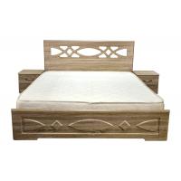 Двуспальная кровать Лиана 180*200 деревянный вклад
